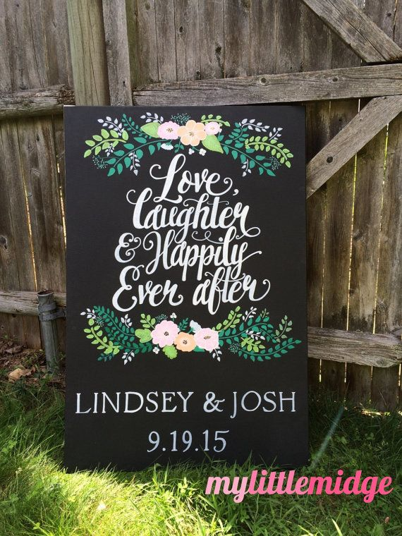 Love Laughter & Happily Ever After Floral Wedding by mylittlemidge