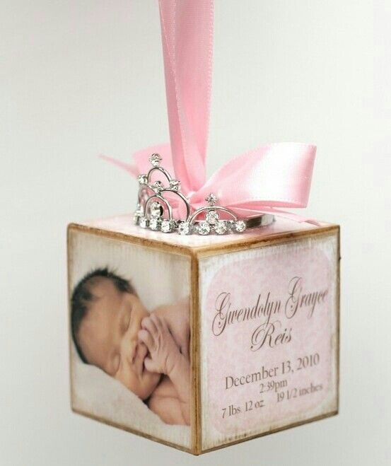 Newborn keepsake Christmas ornament