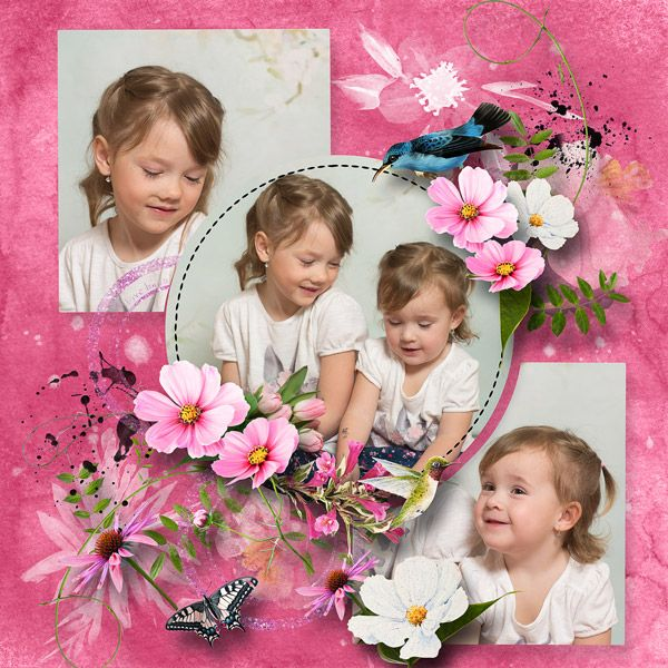 August 2015 Challenge JustArt- Template02 by Robyn