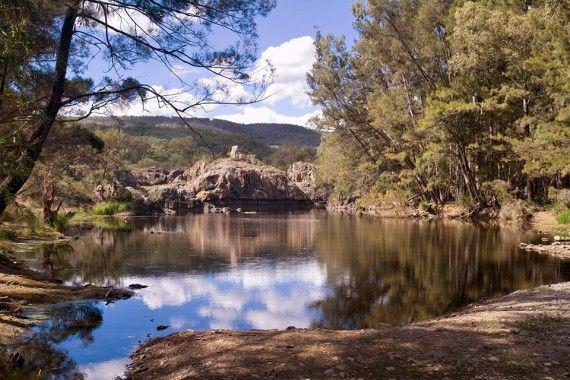 Remote camping spot: Sundown National Park, South Queensland border.