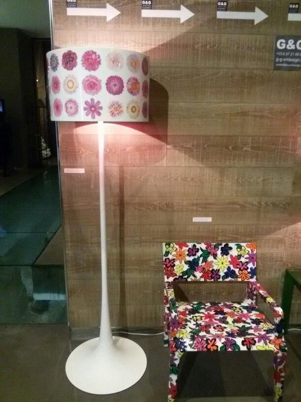 Lamp and chair