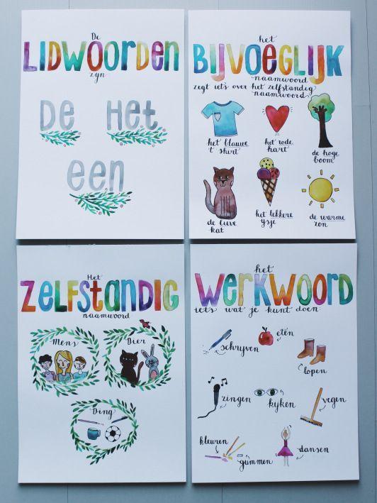 Spelling: woordsoorten. Lidwoord, zelfstandig en bijvoeglijk naamwoord