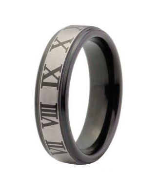 Roman Numeral Tungsten Ring, $130.00 (http://www.june26.ca/roman-numeral-tungsten-ring/)