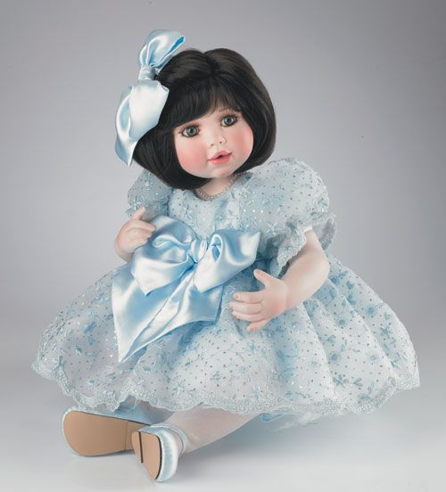 Marie Osmond Collectible Dolls | Details about Marie Osmond Katie Sue in Blue porcelain doll