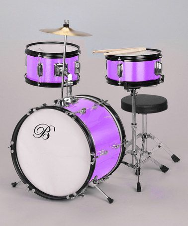 Take a look at this Purple Junior Drum Set by New Dimensions on #zulily today!