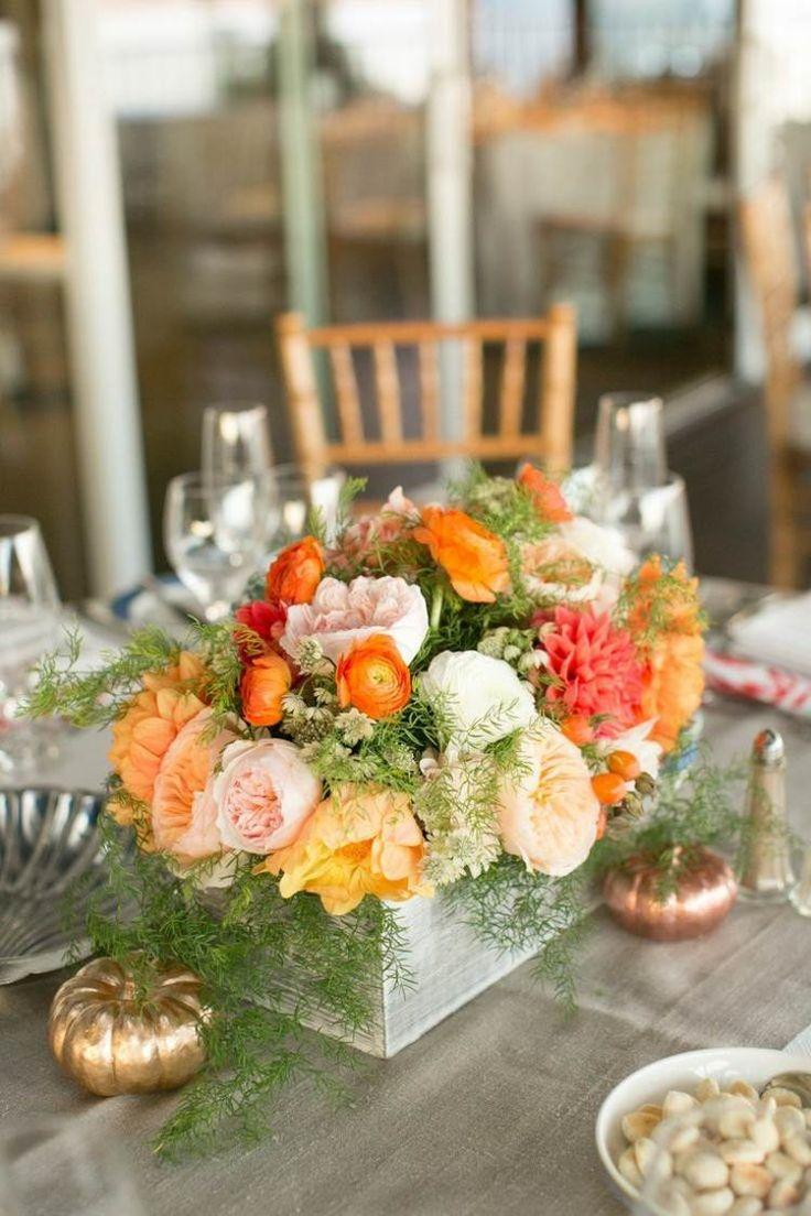 Die 25+ Besten Ideen Zu Orange Blumen Auf Pinterest | Orange Rosen ... Blumen Arrangement Im Blumenkasten Ideen