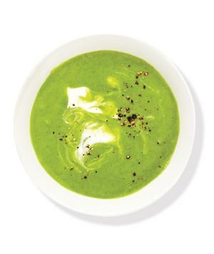Creamy Broccoli and Spinach Soup   RealSimple.com