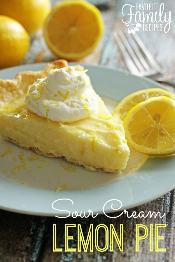 This sour cream lemon pie will quickly become on of your favorite pie recipes! It is perfectly sweet and zesty and so easy to make!