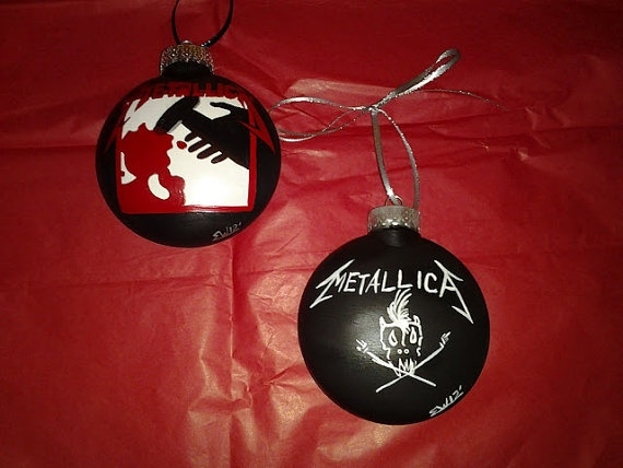 Lot of 2 Metallica Ornaments by howsheseesitecwood on Etsy ...