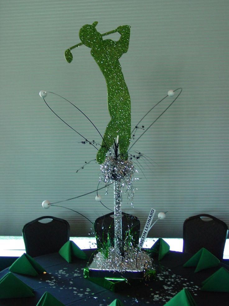 Best 25 golf party decorations ideas on pinterest golf for Golf centerpiece ideas