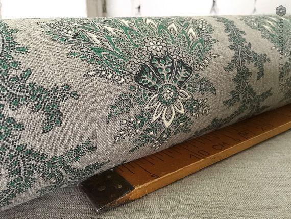 Floral linnen stof-Floral linnen voor meubels stoffering