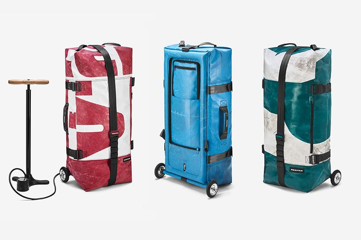Inflatable Luggage: Air-Framed 'Zippelin' Bags Made of Old Tarps & Bike Tubes | Urbanist