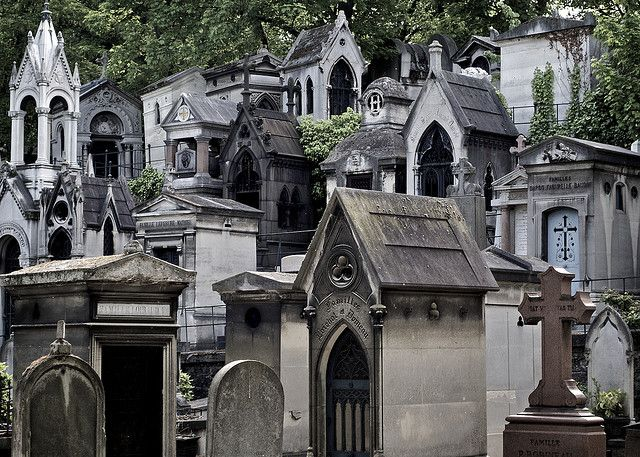 Image result for photo of a parisian cemetery