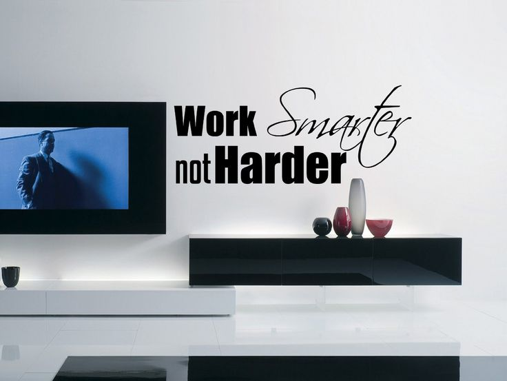 Inspirational Success Quote Wall Decal Work Smarter Not Harder 39 X 16 Inches