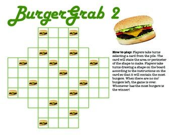 The 25 best area games ideas on pinterest area and perimeter perimeter and area game burger grab ccuart Images