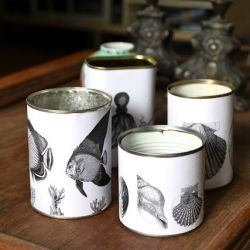 for pencils, markers, scissors perhaps...Decorate old tin cans with these free downloads.