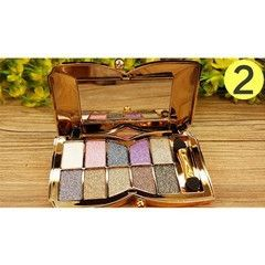 Glitter Bling Eyeshadow 10 Color Makeup Palette Professional Cosmetic Travel Party Gift