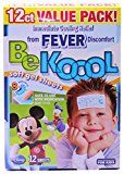 Be Koool Fever Soft Gel Sheets For Kids Immediate Cooling Relief from Fever Discomfort 12 Sheets