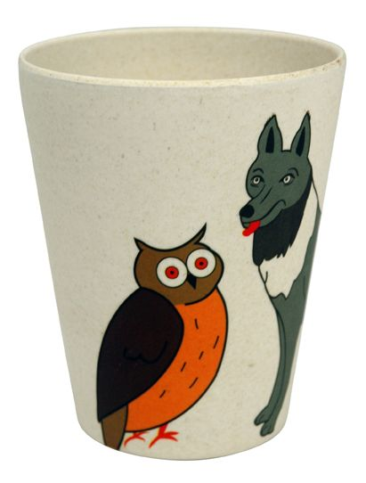 HUNGRY WOLF CUP. Kids Cup made out of bamboo fiber. Check out other prints