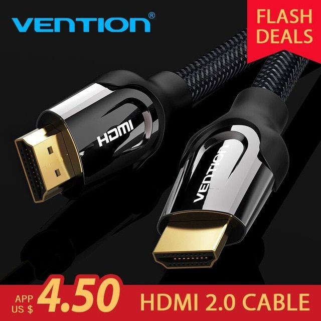 Vention HDMI Cable HDMI to HDMI cable HDMI 2.0 4k 3D 60FPS Cable for HD TV LCD