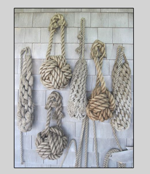 rope rope ropeIdeas, Wall Decor, Beach House, Beach Cottages, The Knots, Ropes, Cottages Life, Beachhouse, Nautical Knots