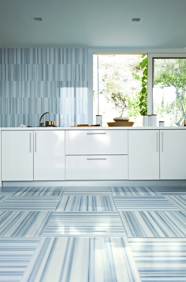Where the Mercury has striking zebra stripes with lots of contrast , this is a recreation of the classic Turkish marble Olympic Striato  This tile is called: Re-Use Marble Grigio Mercurio 590x590