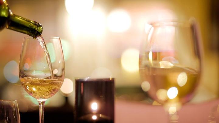 A good glass of wine at Kharma Barcelona.   http://cityblink.com/#!/restaurants/5045/kharma/
