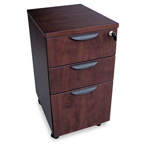 Valencia Series 3-Drawer Mobile Pedestal File Cabinet