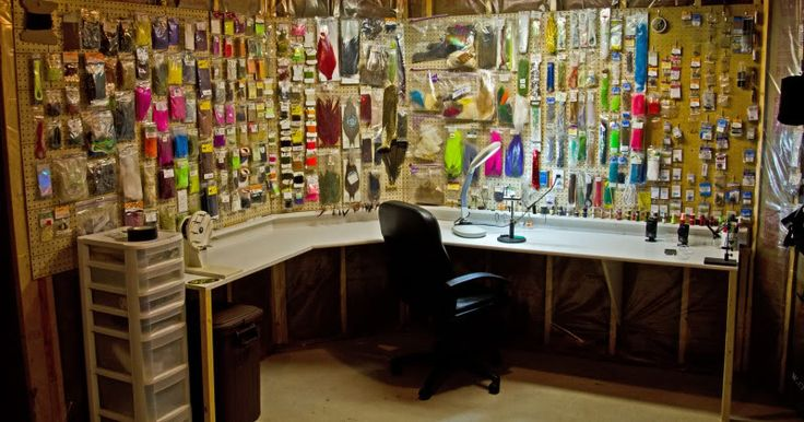Fly tying room? More like fly tying palace! For more fly fishing info follow and subscribe www.theflyreelguide.com Also check out the original pinners/creators site and support