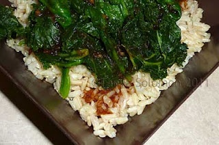 Rice and Greens with Korean BBQ Sauce