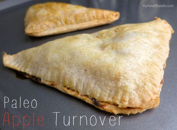 crispy outside, sweet apple goodness inside  This sweet Paleo Apple Turnover is everything that you'd expect a turnover to be. The pastry-like crust is flaky with the perfect amount of crispiness. Bre