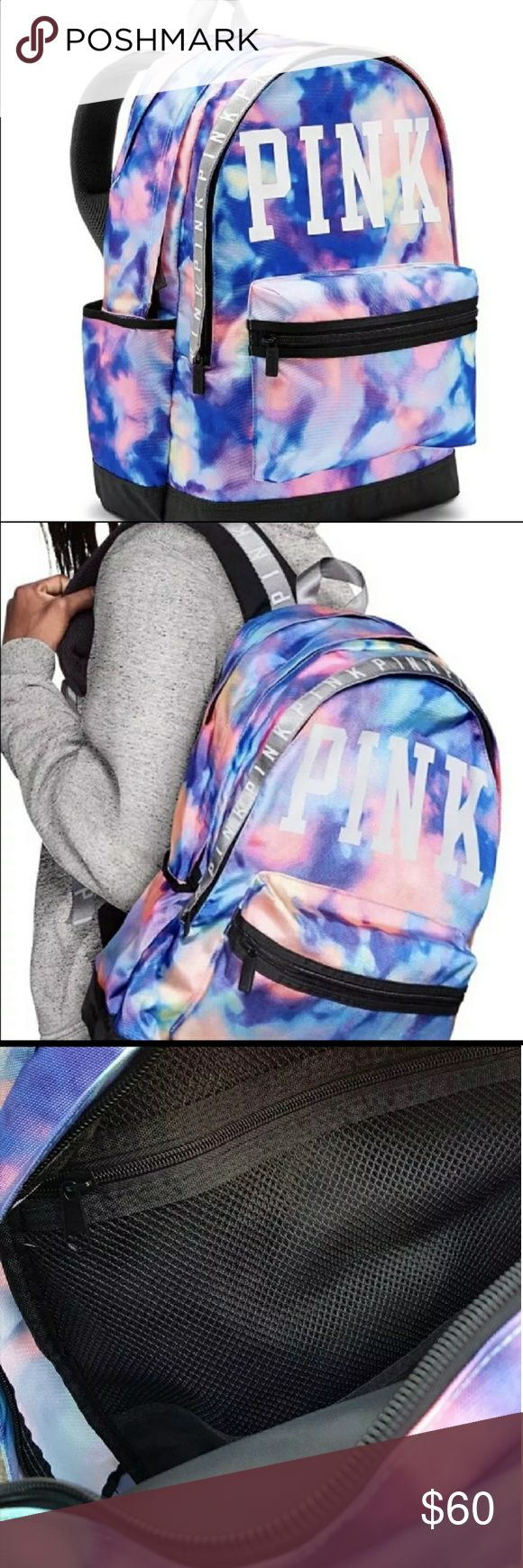 PINK VS Pink Tie- Dye Backpack ( NWT) Brand NWT🌼 PINK VS Pink Tie-Dye Backpack , excellent condition , smoke free and pet free home. PINK Victoria's Secret Bags Backpacks