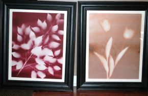 diy spray paint flower art, crafts, painting