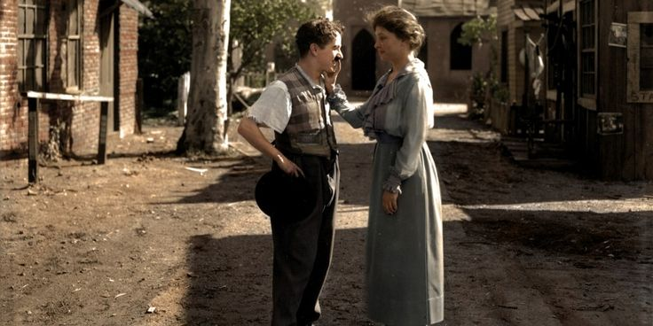 This is Helen Keller meeting Charlie Chapman in 1918. Very very cool!
