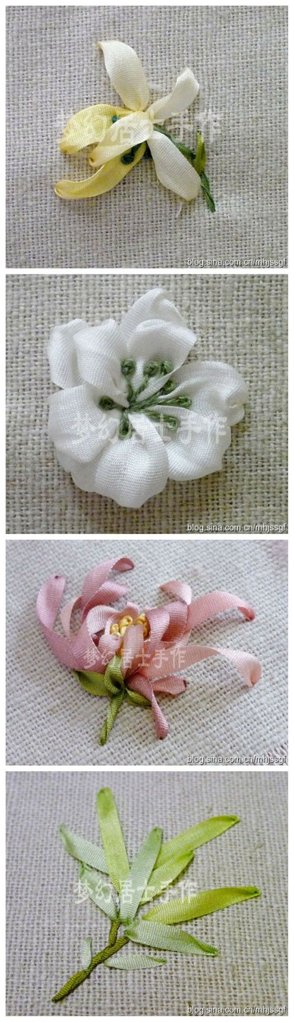 Find This Pin And More On Silk Ribbon Embroidery