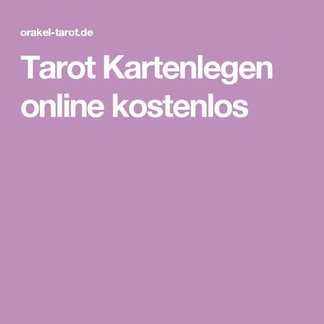Tarot Kartenlegen online kostenlos   All womanstalk   Pinterest