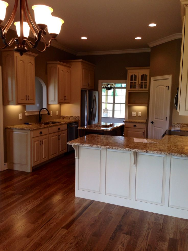 Almond brittle porter paint color cabinets with st cecelia for Almond colored kitchen cabinets