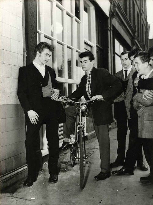 Teddy Boys in London, 1955.