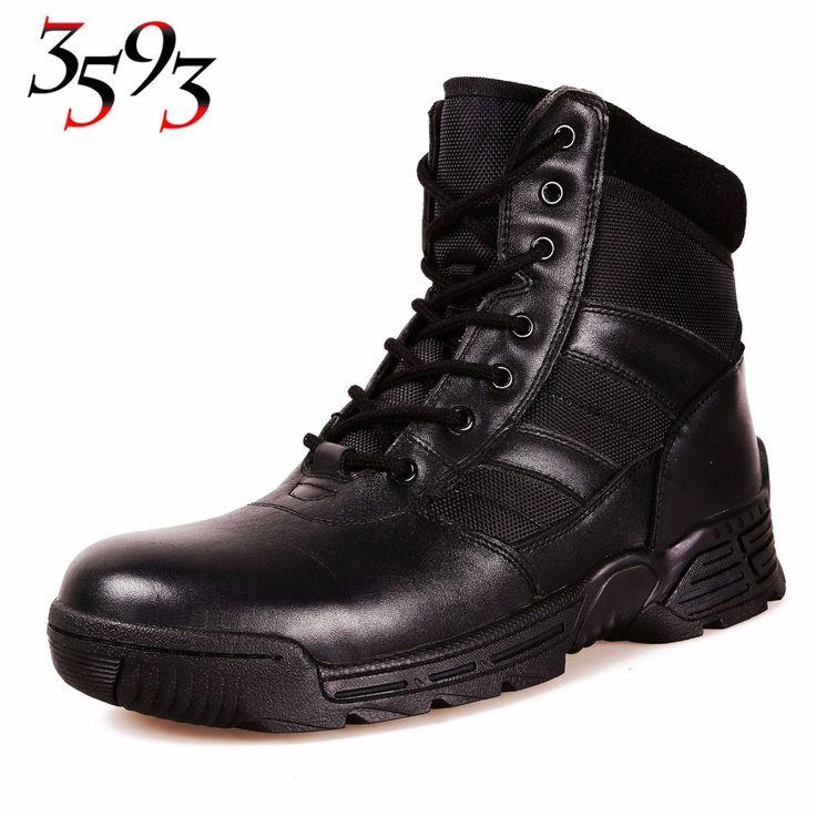 3593 SanNiu Men Spring Autumn Outdoor Hiking Camping Climbing Tactical Hunting Boots Man Military Bota Masculina Combat Shoes