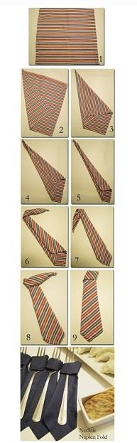 Diy servietten falten, Krawatte