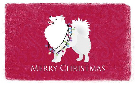 Chien esquimau américain carte de Noël de la par TriPodDog sur Etsy