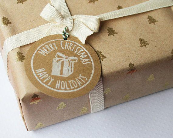 Handgemaakte cadeau labels Engelstalig van ikstempel op Etsy