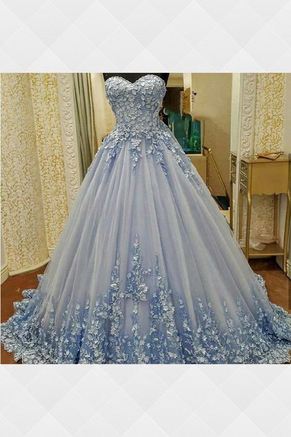 d9ef51da1 Ball Gown Wedding Dresses, Blue Wedding Dresses, Wedding Dress, Light Blue Wedding  Dresses, Wedding Dresses Lace #BallGownWeddingDresses #BlueWeddingDresses  ...