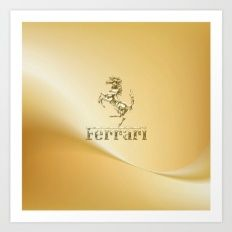 Ferari Gold Art Print