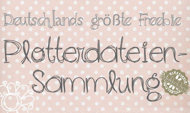 Deutschlands größte kostenlose Plotterdateien-Sammlung | Mukkelchen