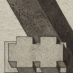 Walter Pichler. Pillars under the Shed Project , Aerial perspective. 1975 | MoMA