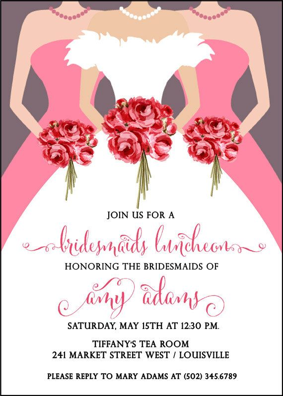 Bridesmaids Luncheon Invitation Bridal by AdorableInvitations