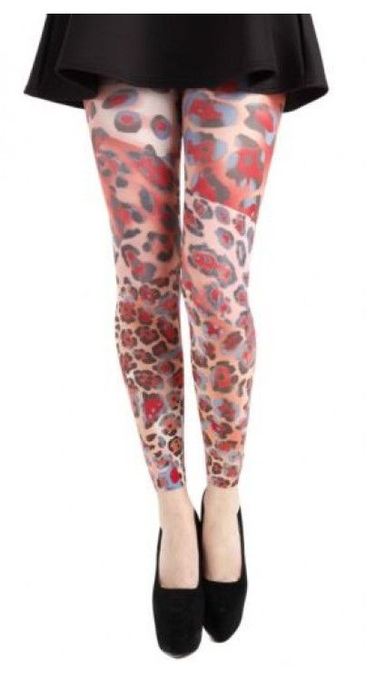 Wild Panther Printed Footless Tights
