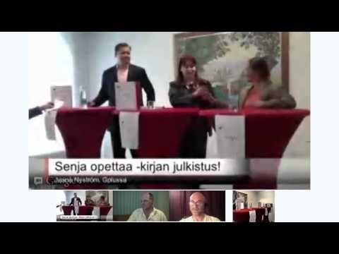 Senja Opettaa Ruotsia! Kirjanjulkistus ja Suomen ensimmäinen Hangout On Air -lehdistötilaisuus