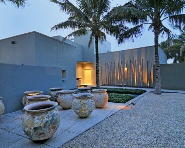 décoration extérieure de bambou